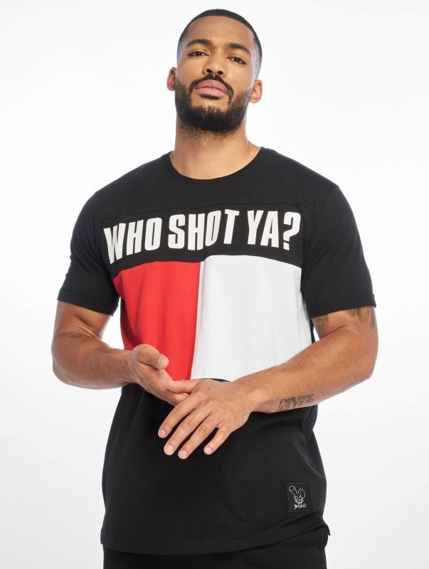 Who Shot Ya? / T-Shirt Block in black