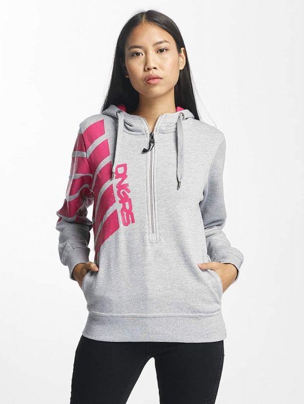 Dangerous DNGRS / Hoodie Pinkstripes Zip in grey