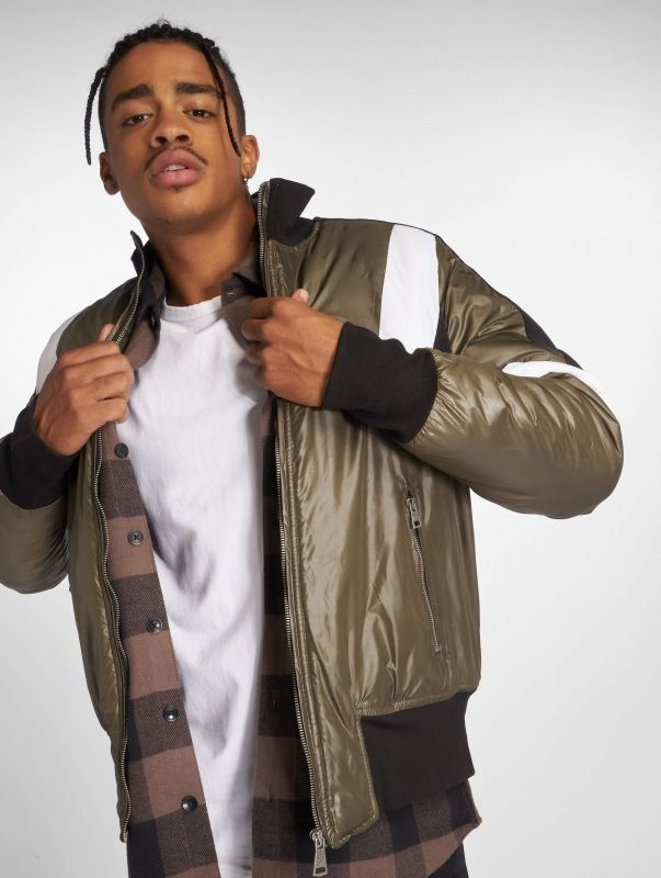Who Shot Ya? / Lightweight Jacket Colorblock in olive
