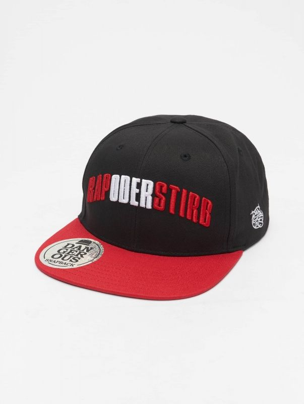 Dangerous DNGRS / Snapback Cap Rapostirb in black