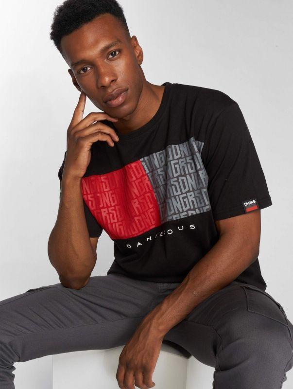 Dangerous DNGRS / T-Shirt Twoblck in black