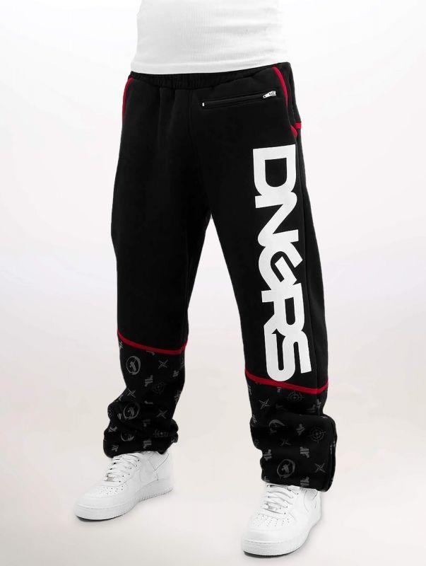 Dangerous DNGRS / Sweat Pant Crosshair Baggyfit Sweat Pants in black