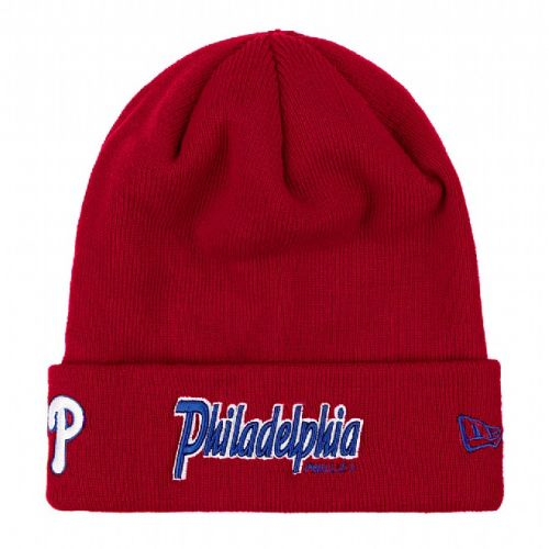 Зимна шапка New Era Cuff Scripter Philadelphia Phillies