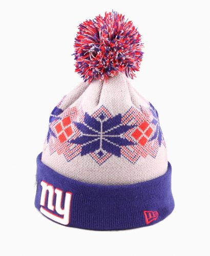 Зимна шапка New Era Intarsia Pom NY Giants