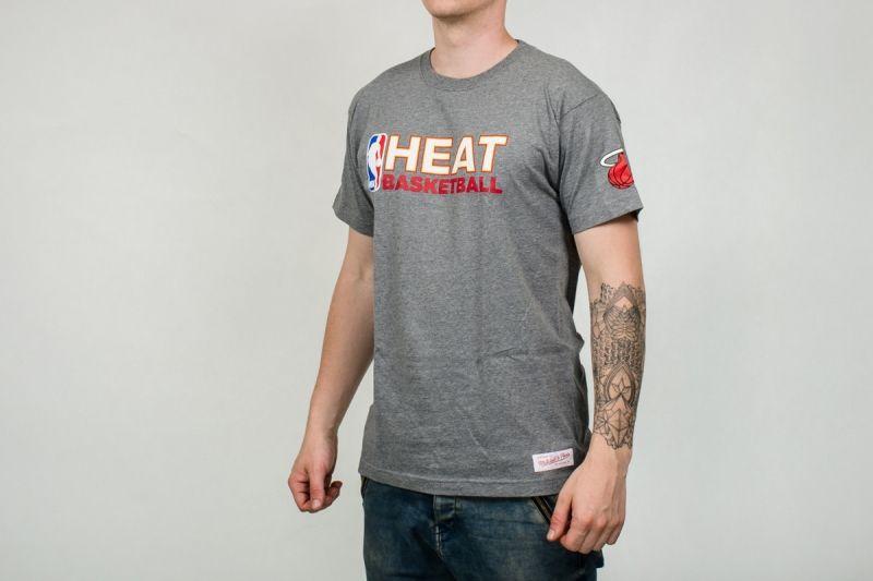 Тениска Mitchell & Ness NBA Miami Heat Team Issue Traditional Tee