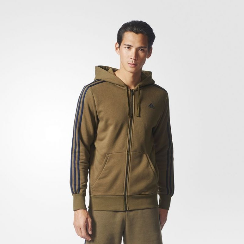 Суичър adidas Essentials 3 Stripes Full Zip Hoodie Jacket
