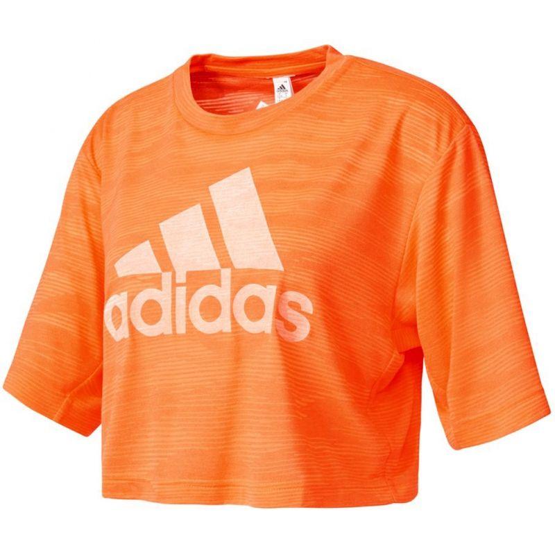 Тениска adidas WMNS Aeroknit Boxy Crop Tee