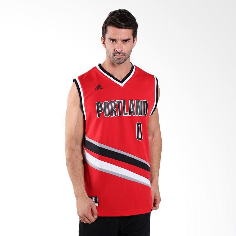 new arrival 761bc f30b7 Type Shirts adidas NBA Damian Lillard Portland Trail Blazers Replica Jersey