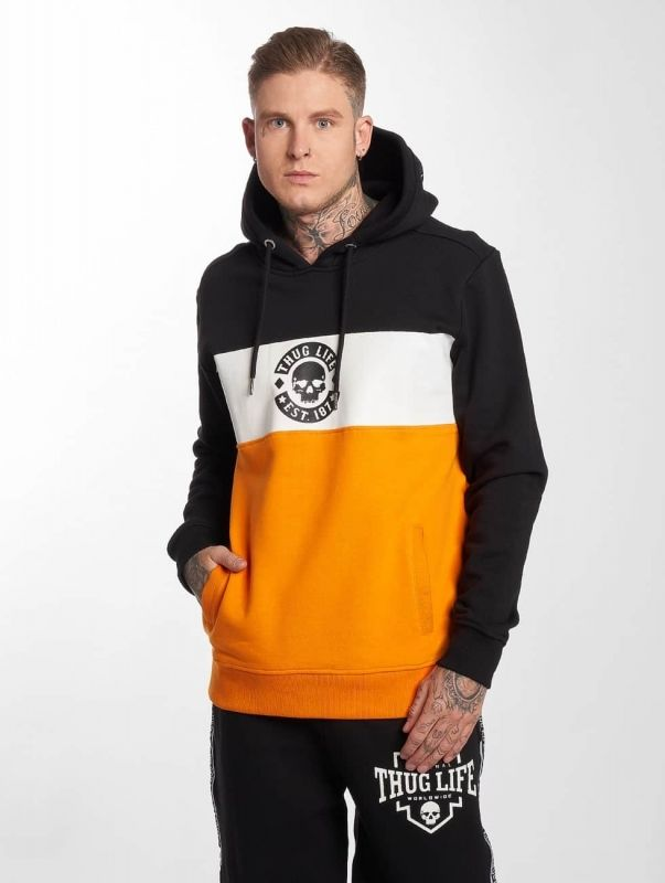 Thug Life / Hoodie Lion in orange