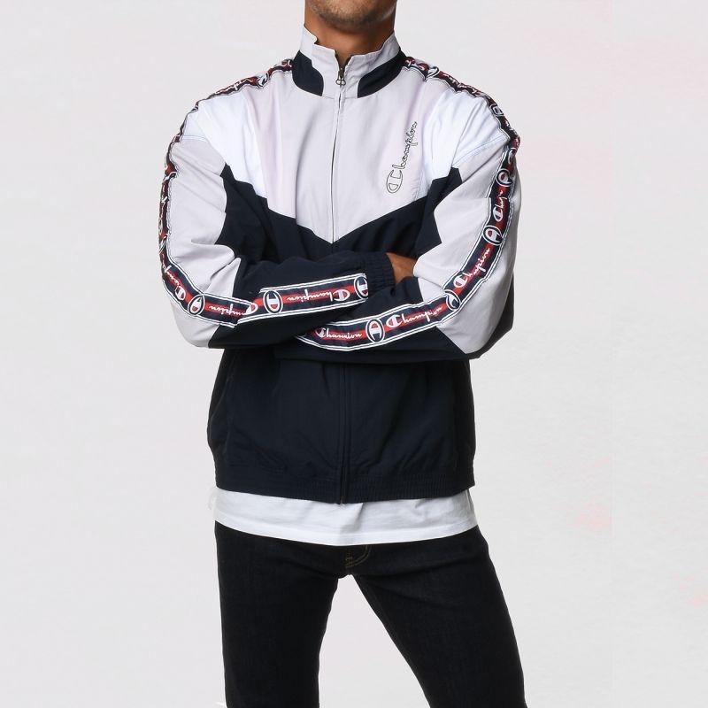 Type Hoodies Champion Colour Block Logo Tape Track Jacket