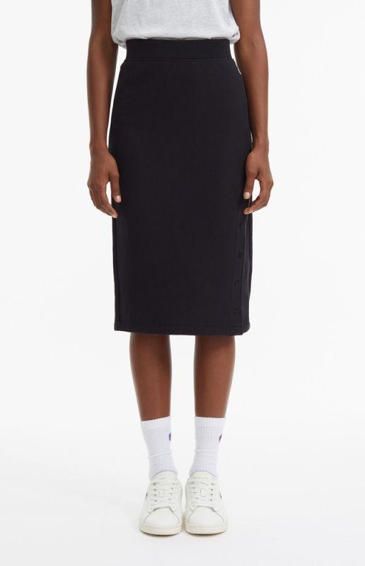 Type Skirts / Dresses Champion Wmns Popper Side Reverse Weave Midi Skirt