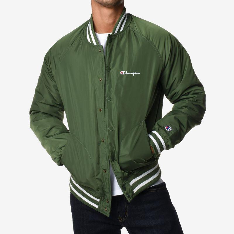 Type Jackets Champion Reverse Weave Satin Bomber Jacket