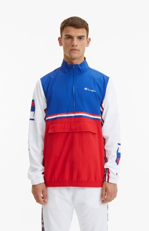 Type Hoodies Champion Pull On Striped Track Jacket