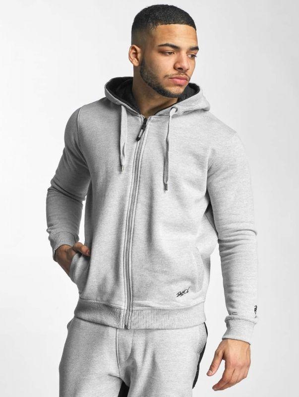 Dangerous DNGRS / Zip Hoodie Rocco Kingstyle in grey