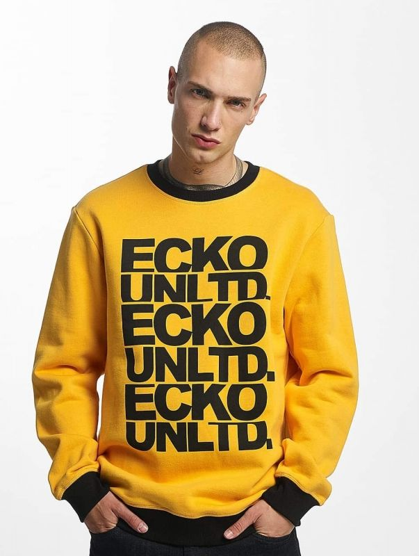 Ecko Unltd. / Jumper Fuerteventura in yellow