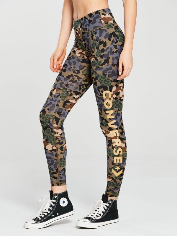 Type Pants Converse Wmns Floral Animal Camo Wordmark Leggings