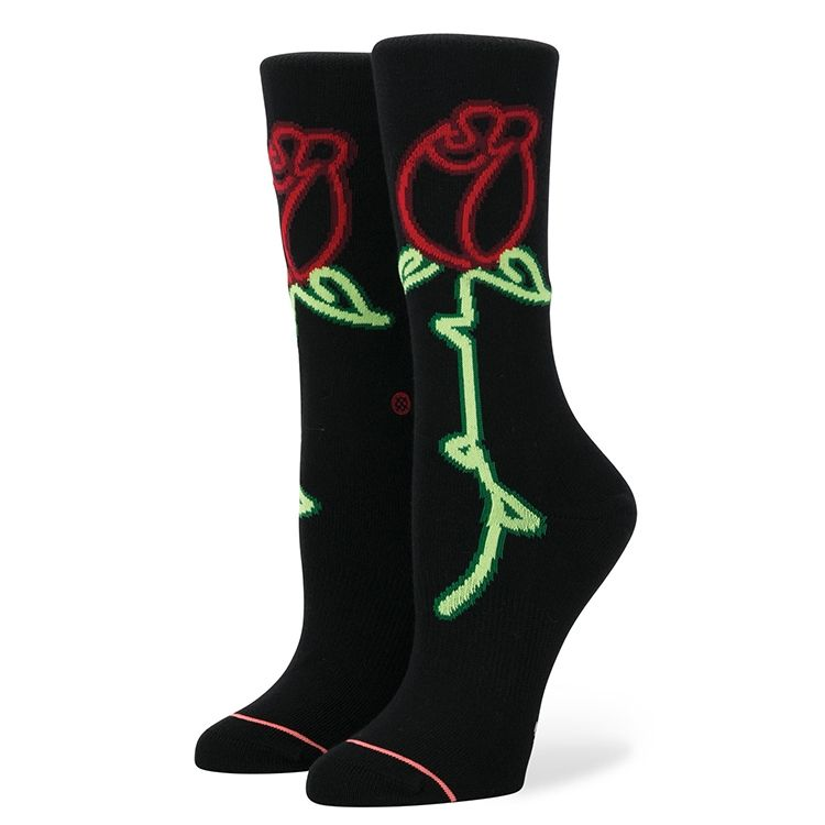 Type Socks Stance Wmns Zekes Anthem Womens Martinez Black Socks