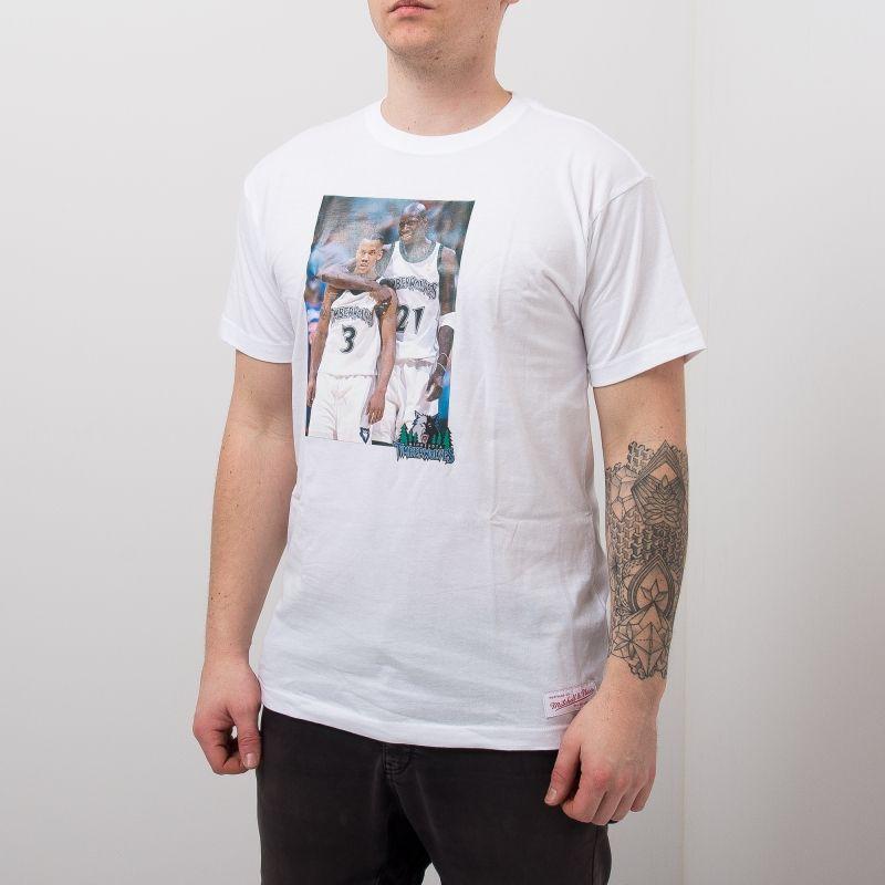 Type Shirts Mitchell & Ness Minnesota Timberwolves Stephon Marbury & Kevin Garnett Real Player Print Tee