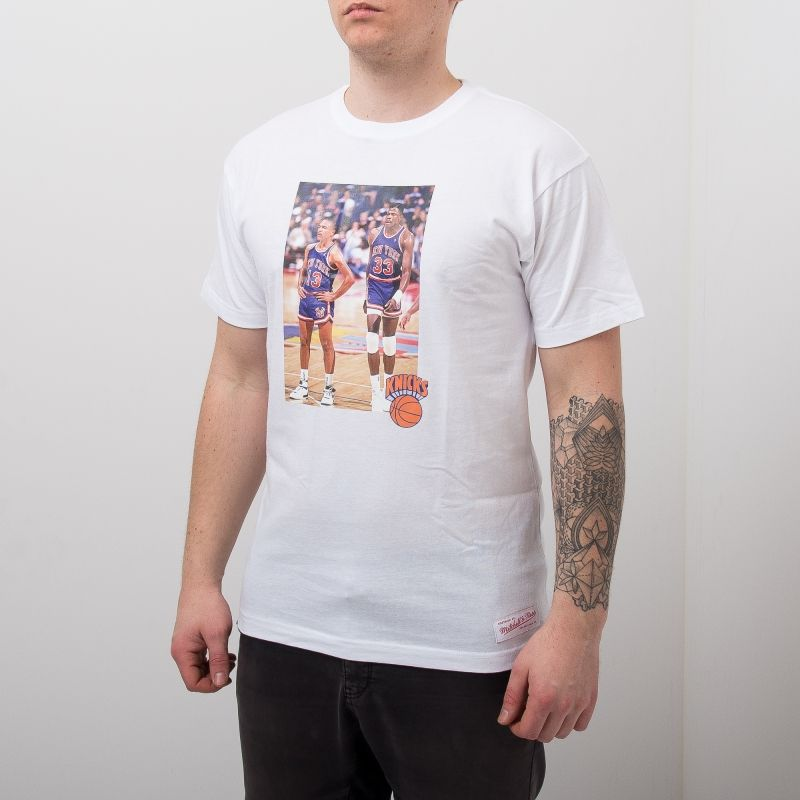 Type Shirts Mitchell & Ness New York Knicks Mark Jackson & Patrick Ewing Real Player Print Tee