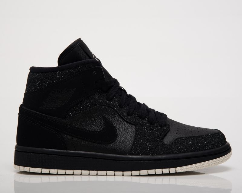 Кецове Air Jordan Wmns 1 Mid Glitter Black