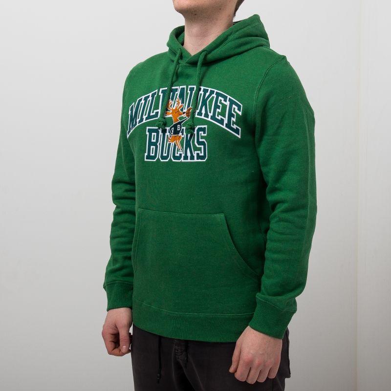 Type Hoodies Mitchell & Ness NBA Milwaukee Bucks Playoff Win Hoody