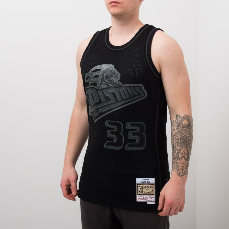 Type Shirts Mitchell & Ness NBA Detroit Pistons Grant Hill 33 Swingman Jersey