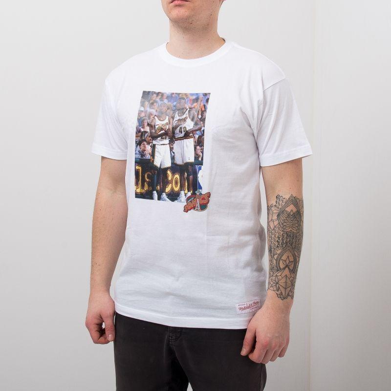 Type Shirts Mitchell & Ness Seattle SuperSonics Gary Payton & Shawn Kemp Real Player Print Tee