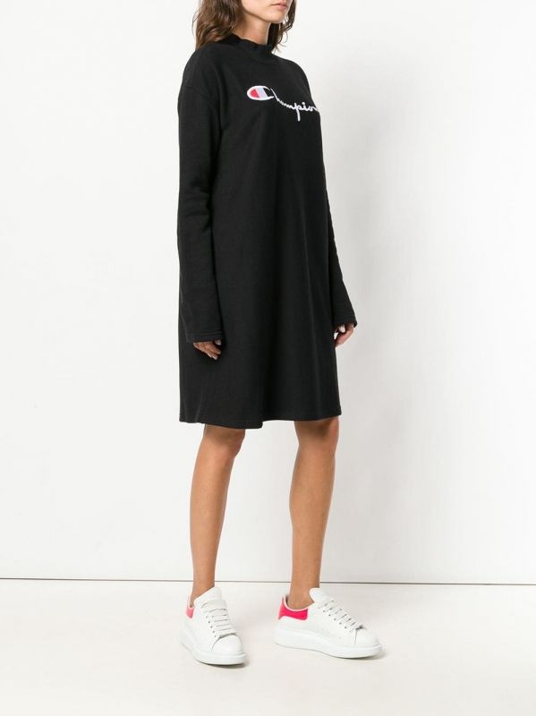 Type Skirts / Dresses Champion Wmns Logo Oversized Reverse Weave Mini Sweater Dress