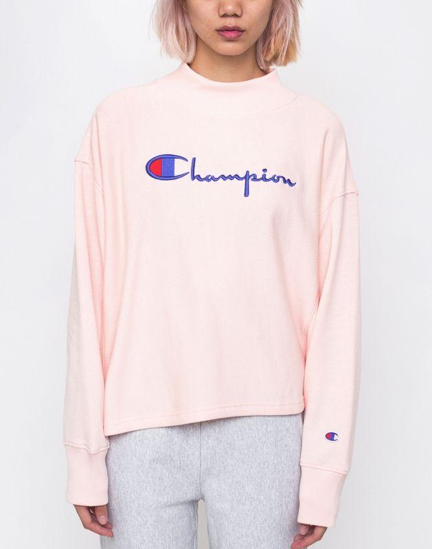 Type Hoodies Champion Wmns High Neck Sweatshirt