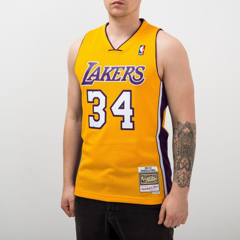 Type Shirts Mitchell & Ness NBA Los Angeles Lakers Shaquille O'Neal 1999-00 Home Swingman Jersey