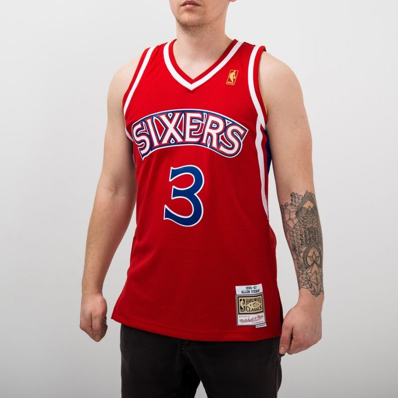 Type Shirts Mitchell & Ness NBA Philadelphia 76ers Allen Iverson 1996-97 Alternate Swingman Jersey