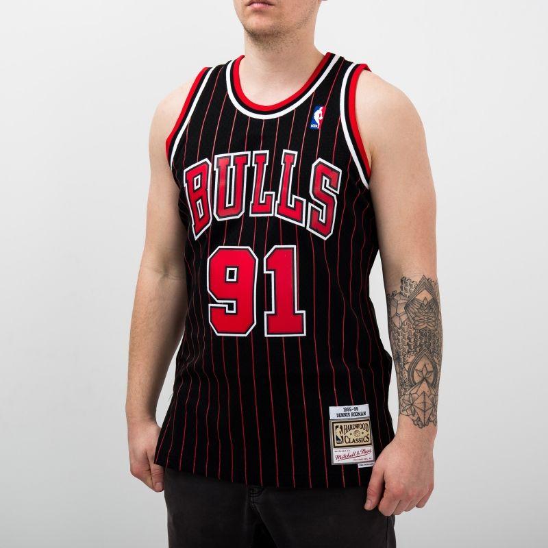 Type Shirts Mitchell & Ness NBA Chicago Bulls Dennis Rodman 1995-96 Alternate Swingman Jersey