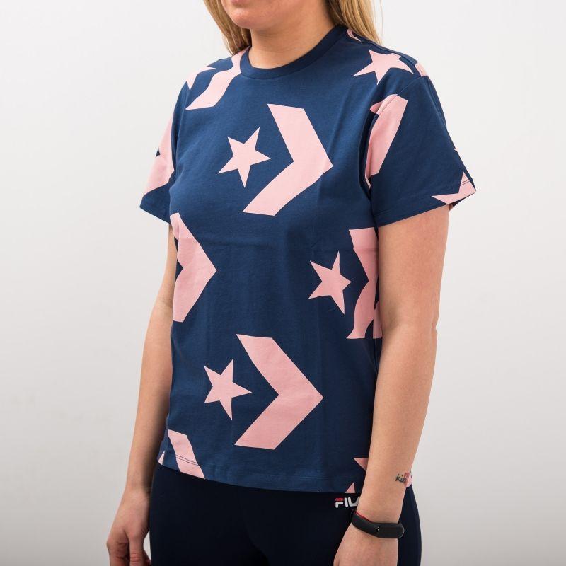 Type Shirts Converse Wmns Star Chevron Print Crew Tee