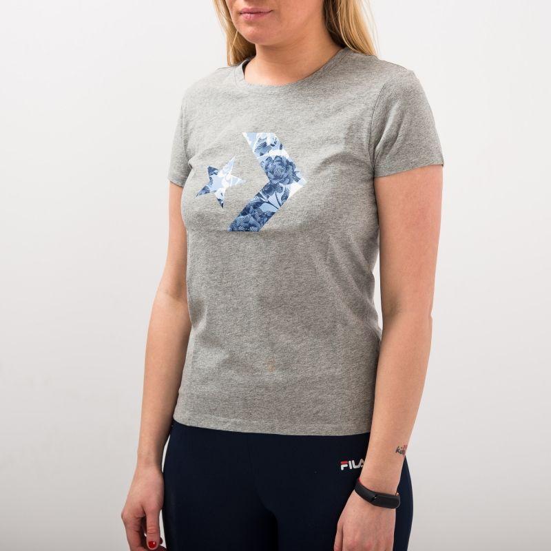 Type Shirts Converse Wmns Linear Floral Star Chevron Tee