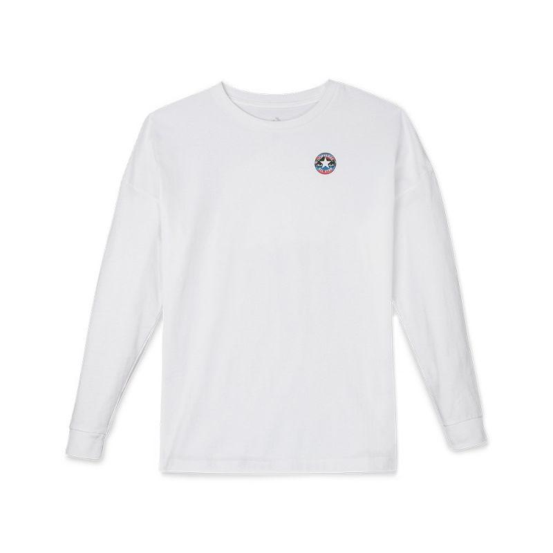 Type Shirts Converse Wmns Mountain Club Long Sleeve T-Shirt