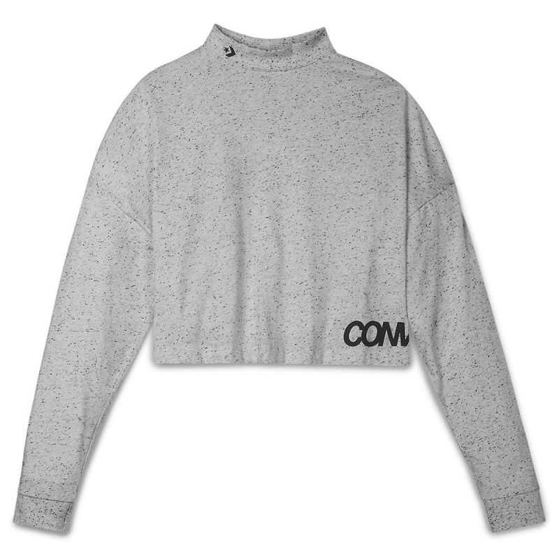 Type Shirts Converse Wmns Cropped Mock Neck Top
