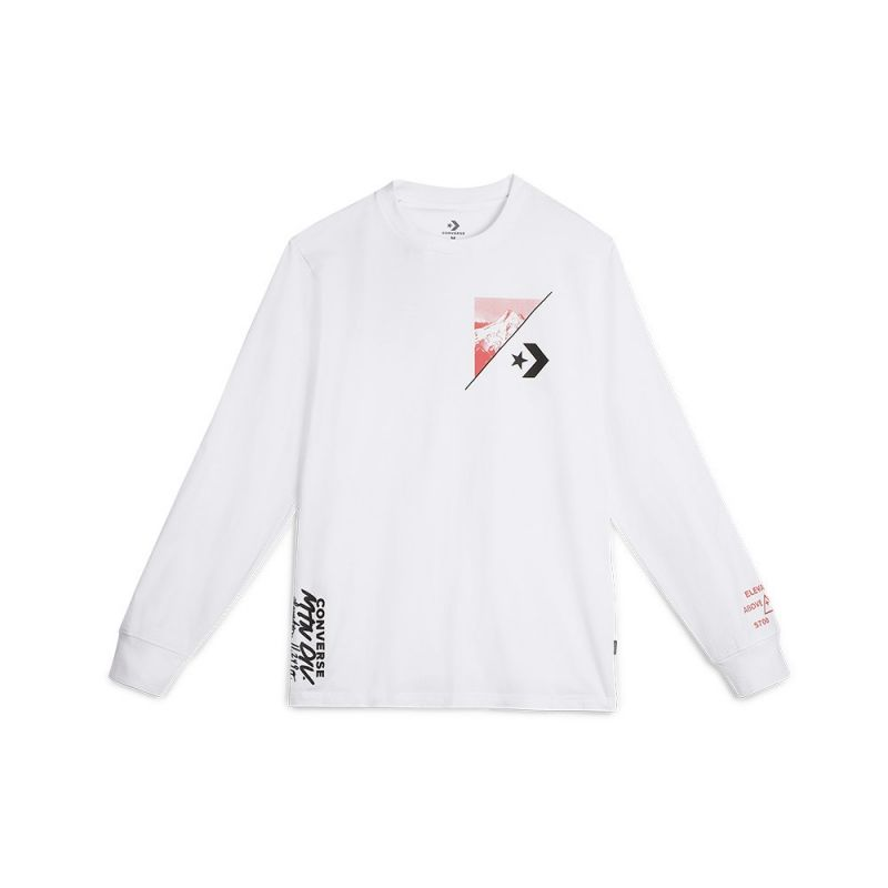 Type Shirts Converse Mountain Club Long Sleeve T-Shirt