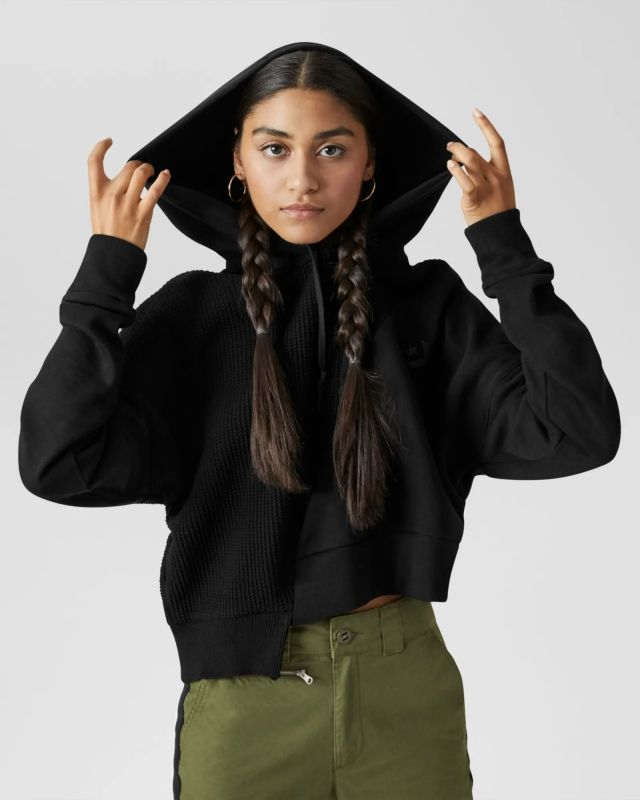 Суичър Converse Wmns Sweater Cropped Pullover Hoodie
