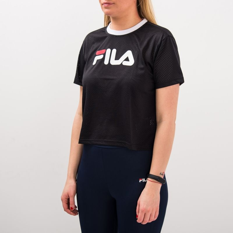 Type Shirts Fila Wmns Michelle Cropped Mesh Tee