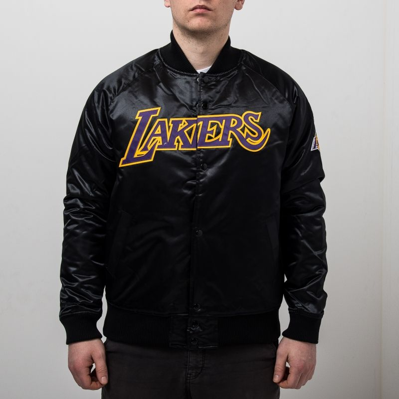 Type Jackets Mitchell & Ness NBA Los Angeles Lakers Tough Season Satin Jacket
