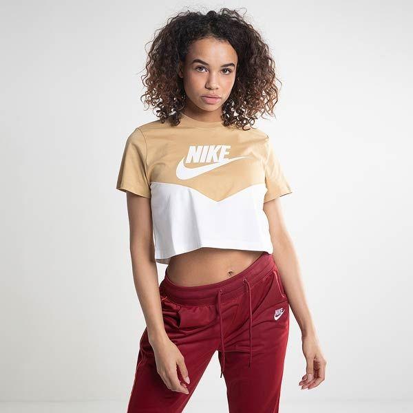 Type Shirts Nike Wmns Sportswear Heritage Short Sleeve Top