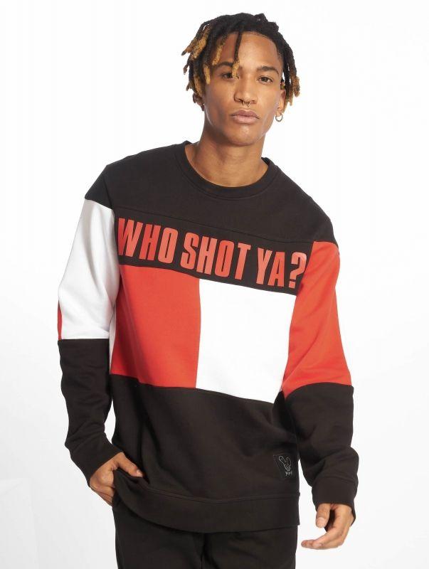 Who Shot Ya? / Pullover Block in black