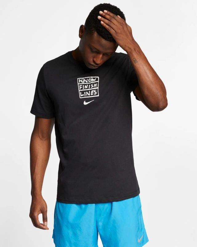 Type Shirts Nike Dri-FIT Nathan Bell Finish Lines Running T-Shirt