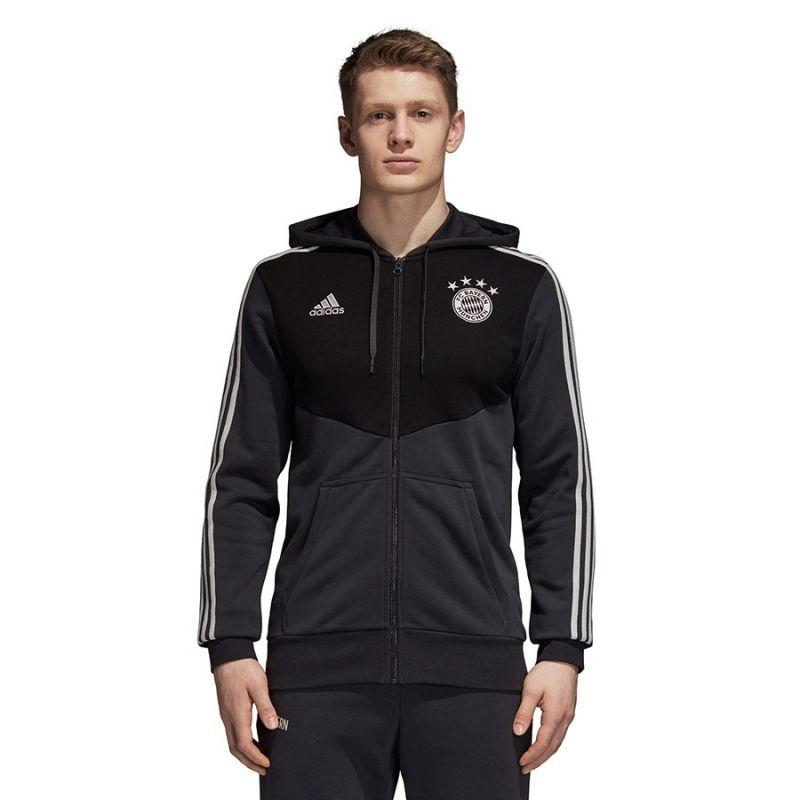 Type Hoodies adidas FC Bayern 3 Stripes Full Zip Hoodie