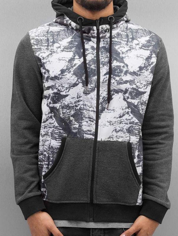 Just Rhyse / Zip Hoodie Mountains in grey
