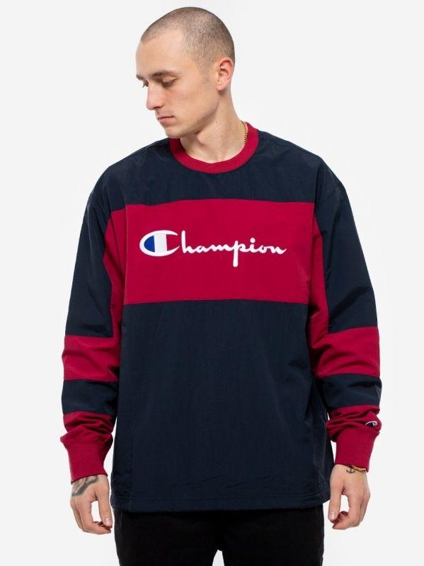 Type Hoodies Champion Colour Block Script Logo Sweatshirt