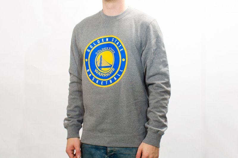Суичър Mitchell & Ness NBA Golden State Warriors Circle Patch Crew Sweatshirt