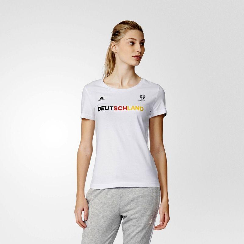 Тениска adidas WMNS EURO 2016 Deutschland Tee