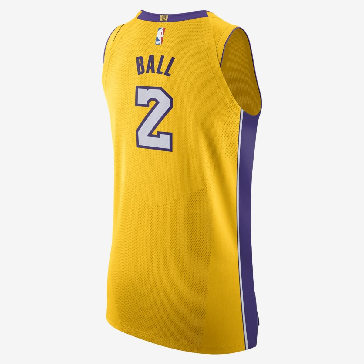 official photos 13fb5 f0022 Type Shirts Nike NBA Los Angeles Lakers Lonzo Ball Icon Edition Authentic  Jersey