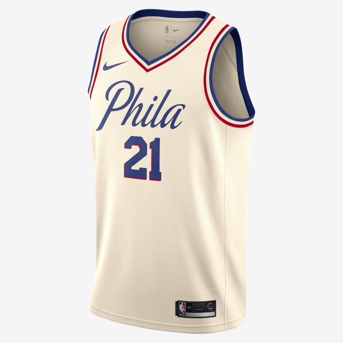 reputable site 73a12 5c5cf Type Shirts Nike NBA Philadelphia 76ers Joel Embiid City Edition Swingman  Jersey